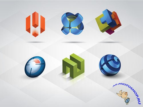 Pixeden - 3D Logo Templates Set Vol 1