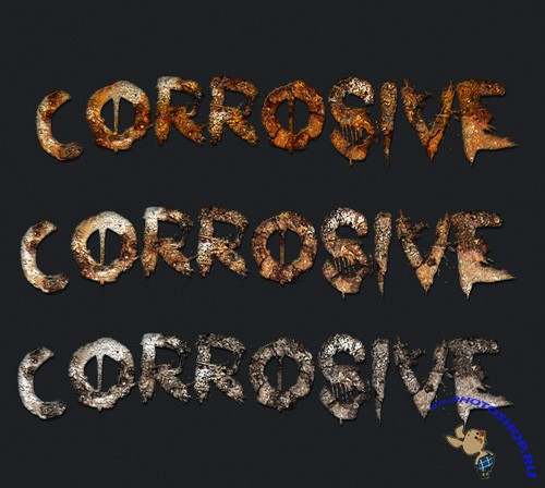 Rusty Text Effects and Styles