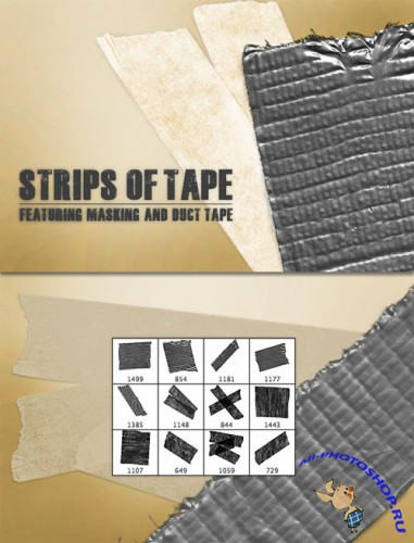 WeGraphics - Strips of Tape Brush Set