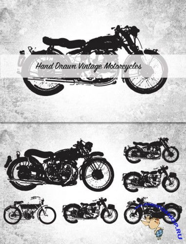 WeGraphics - Hand Drawn Vintage Motorcycles