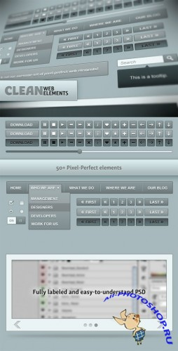 WeGraphics - Clean Blue Web Elements