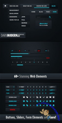 WeGraphics - Dark Modern Web Elements