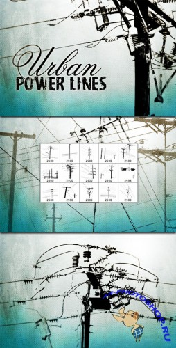 WeGraphics - Urban Power Lines Brush Set
