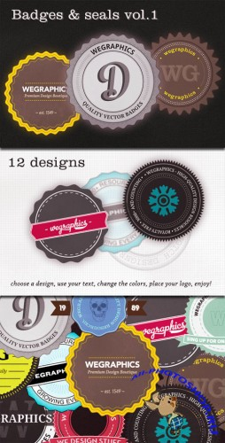 WeGraphics - Authentic Vector Badges v1
