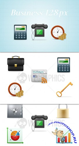 WeGraphics - Business icons pack, 128?128 pixels