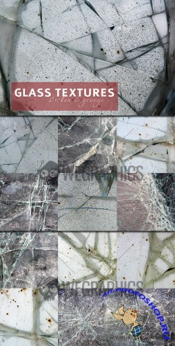 WeGraphics - Broken and grunge glass textures