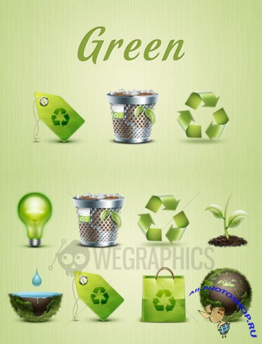 WeGraphics - Green environmental icons