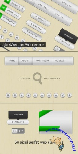 WeGraphics - Light and textured web elements kit