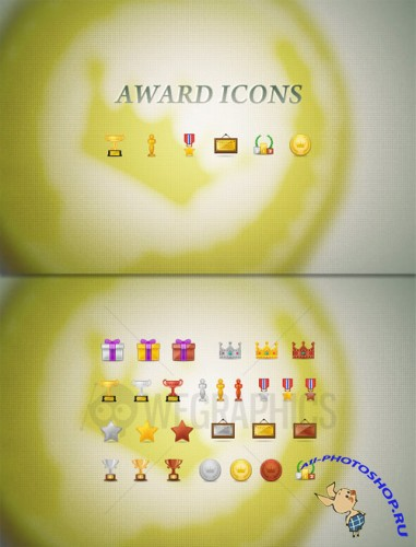 WeGraphics - Award icon set