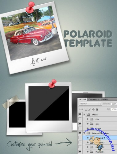WeGraphics - Polaroid Templates