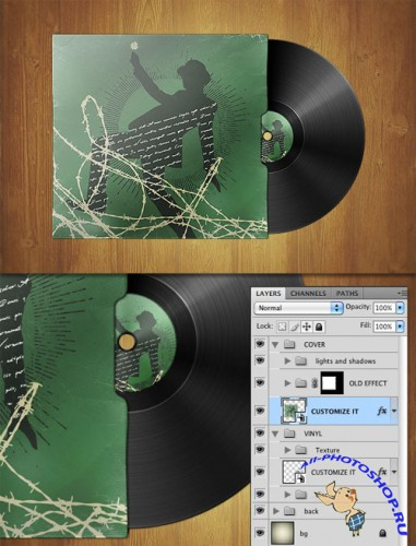 WeGraphics - Vinyl Template