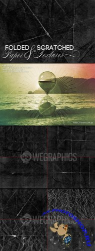 WeGraphics - Folded and Scratched Paper Textures Part I