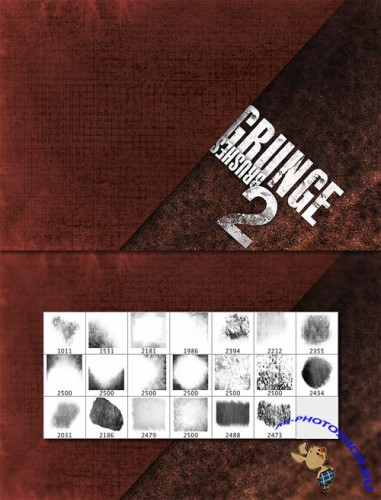 WeGraphics - Grunge Brushes Set Vol2