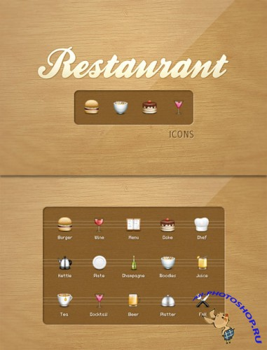 WeGraphics - Restaurant icons