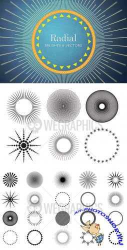 WeGraphics - Radial brushes and vectors