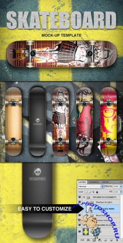 WeGraphics - Skateboard Template