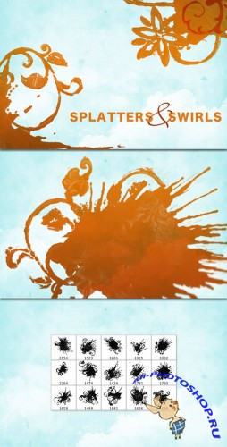 WeGraphics - Splatters and Swirls brushes