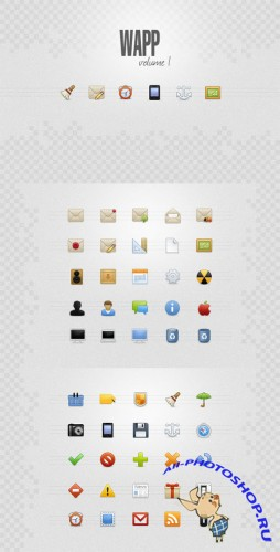 WeGraphics - Wapp, an icon set for web apps volume1