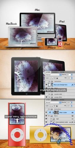 WeGraphics - Exclusive Apple products PSD templates