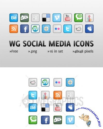 WeGraphics - Social media icon set