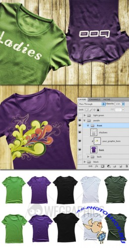 WeGraphics - Ladies Tee Shirt Templates Vol1