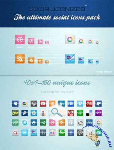 WeGraphics - Socialiconized – The ultimate social icons pack