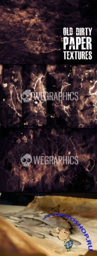 WeGraphics - Old Dirty Paper Textures
