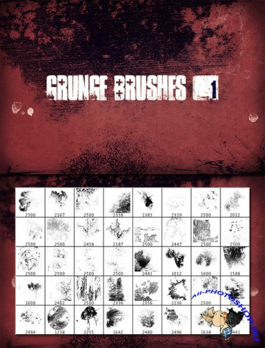 WeGraphics - Grunge Brush Set Vol1