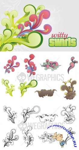 WeGraphics - Witty Swirls Vector Set