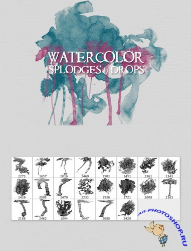 WeGraphics - Watercolor Splodges and Drops