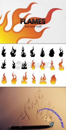 WeGraphics - Vector Flames Vol1