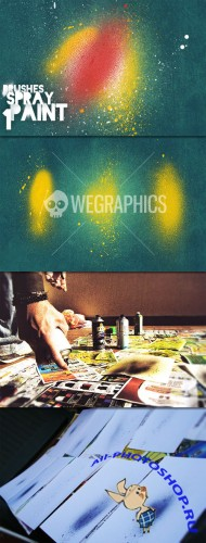 WeGraphics - Spray Paint Brushes Vol 1