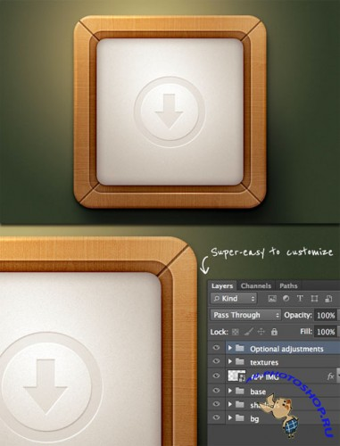 WeGraphics - Wooden Style App Icon Template