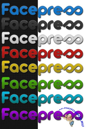 Facepress Multicolors Photoshop Styles