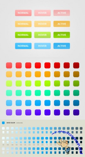 Modern Web Buttons Photoshop Layer Styles