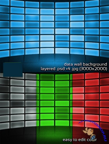 DataWall Stage PSD Backgrounds