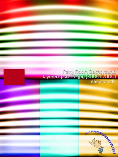 Party Lights Room PSD Backgrounds