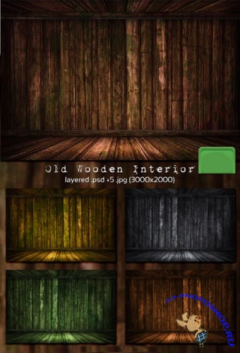 Old Wooden Room PSD Template