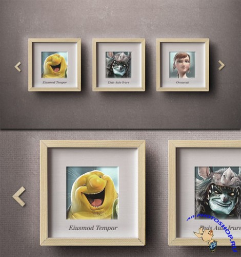 Pixeden - Carousel Psd Photo Frame Slider