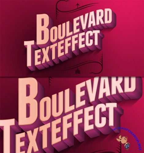 Pixeden - Psd Boulevard Retro Text Effect