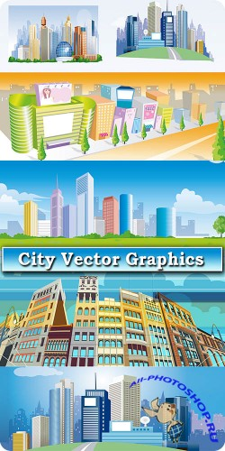 ��������� ������� �������� ������ / Vector graphics of big city