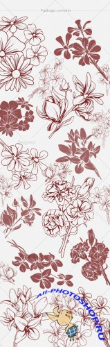 Floral Brushes Set 48