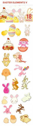 Designtnt - Vector Easter Elements Set 5