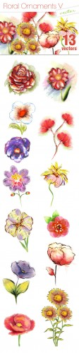 Designtnt - Vector Floral Ornaments Set 5