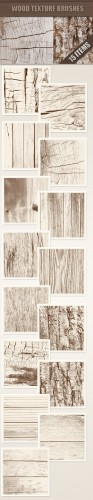 Designtnt - Wood Photoshop Brushes Set 1