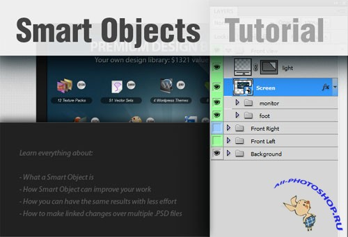 Designtnt - Create Smart Objects in Photoshop