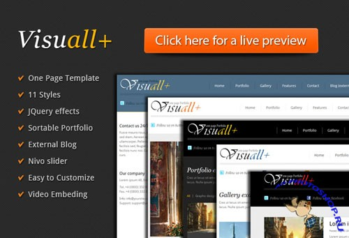 Designtnt - Visuall+ One Page HTML Template