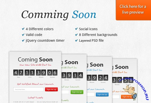 Designtnt - Coming Soon Page HTML Template