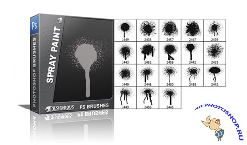 Spray Paint Brushes Set 1