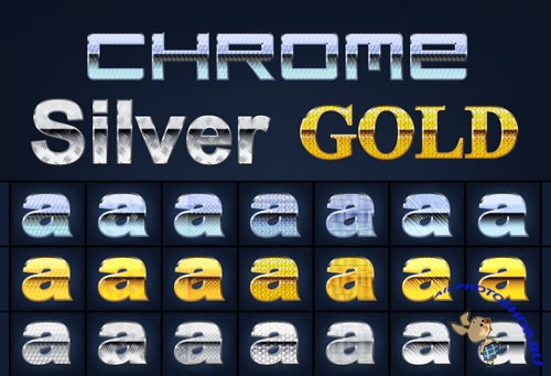 Designtnt - Chrome Gold Silver Graphic Style